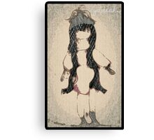 The Red Doll with the Long Hair. By Lydeeah.. Canvas Print