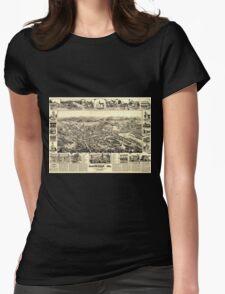 Panoramic Maps Bird's eye view Placerville Cal T-Shirt