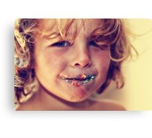 Freckle face Canvas Print