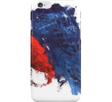 grunge red and blue splashes iPhone Case/Skin
