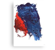 grunge red and blue splashes Canvas Print