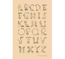 Shoes alphabet! Photographic Print