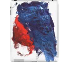 grunge red and blue splashes iPad Case/Skin