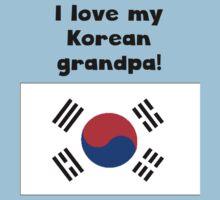 I Love My Korean Grandpa Kids Tee