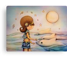 dolphin paradise Canvas Print