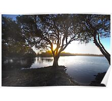 Sunset over Lake Ainsworth Poster