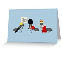 Worker Ant, Soldier Ant, Queen Ant Greeting Card
