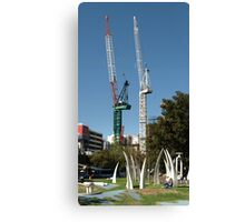 Hidmarsh Square, Adelaide - with Sculptures Canvas Print