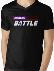 Half the Battle Mens V-Neck T-Shirt