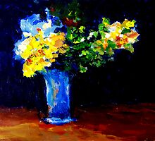 Blue Vase  by Bob Abrahams