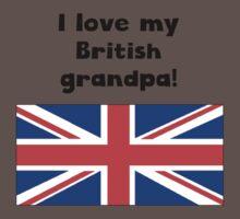 I Love My British Grandpa One Piece - Short Sleeve