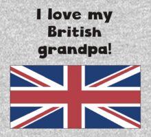 I Love My British Grandpa Kids Tee