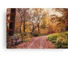 Autumn in the Azalea Garden Canvas Print