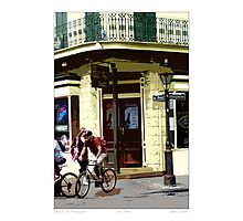 Biking In The French Quarter Photographic Print