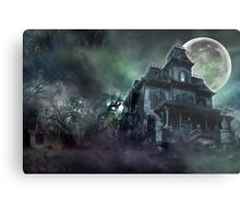 The Haunted House Paranormal Metal Print