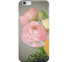 One Pink Ranunculus iPhone Case/Skin