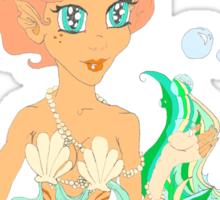 Mermaiden delicate bubble feast Sticker
