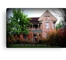 The Old Pink Mansion Canvas Print