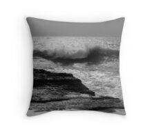 About to Splash. Panther Beach, California Throw Pillow