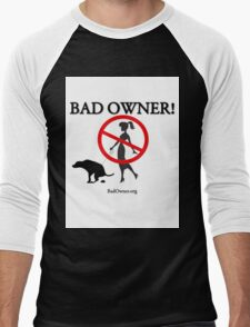 BadOwner Clothes - Sick of the Poo Men's Baseball ¾ T-Shirt