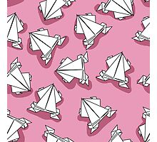 Origami pink frogs Photographic Print