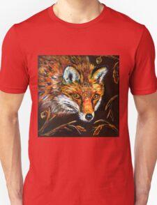 Red Fox in Autumn Fall Wildlife Woodland Animal Art Unisex T-Shirt