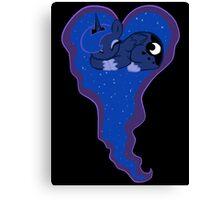 Princess Luna Sleeping Heart Canvas Print