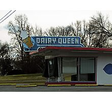 Vintage Dairy Queen Photographic Print