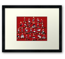 Footrot Flats characters on Red  Framed Print