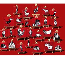 Footrot Flats characters on Red  Photographic Print