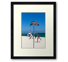 Sculptures by the Sea 1 Framed Print