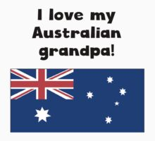 I Love My Australian Grandpa Kids Tee