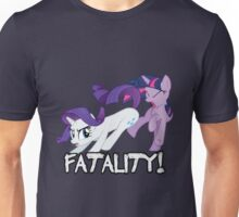 Rarity vs. Twilight Sparkle - FATALITY! Unisex T-Shirt