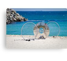 Sculptures by the Sea 3 - with Seagulls Canvas Print