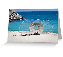Sculptures by the Sea 3 - with Seagulls Greeting Card