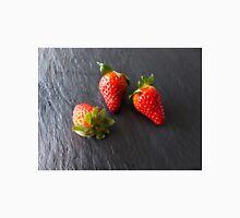 three strawberries on slate Unisex T-Shirt