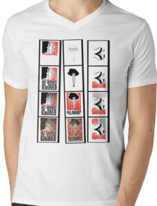 Test Strips Tee: Burlesque Rockabilly Propaganda Shirt Mens V-Neck T-Shirt