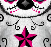 Pink Day of the Dead Sugar Skull Penguin  Sticker