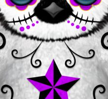 Purple Day of the Dead Sugar Skull Penguin  Sticker