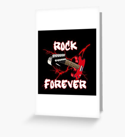 Rock forever Greeting Card