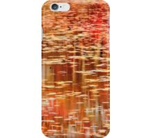 Autumn colors reflection on the Lily Pond iPhone Case/Skin