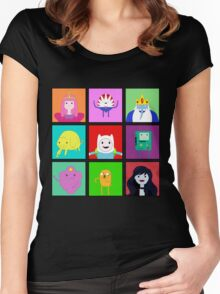 Adventure Time Portraits! Women's Fitted Scoop T-Shirt