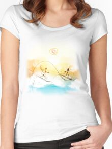 Surfs up Women's Fitted Scoop T-Shirt