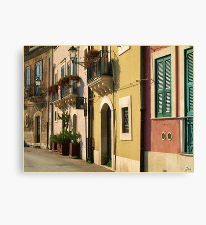 Sicilian Façade Canvas Print
