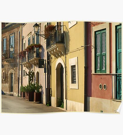 Sicilian Façade Poster