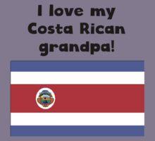 I Love My Costa Rican Grandpa Kids Tee