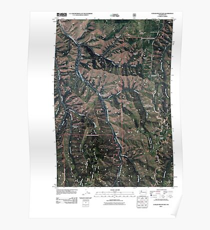 USGS Topo Map Washington State WA Eckler Mountain 20110421 TM Poster