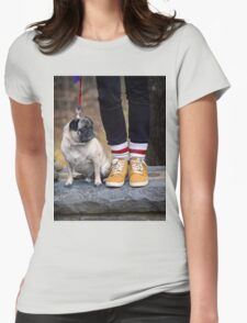 Cutest Pug Womens Fitted T-Shirt