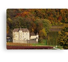 Autumn in the french vineyard Canvas Print