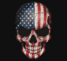 American Flag Skull One Piece - Short Sleeve